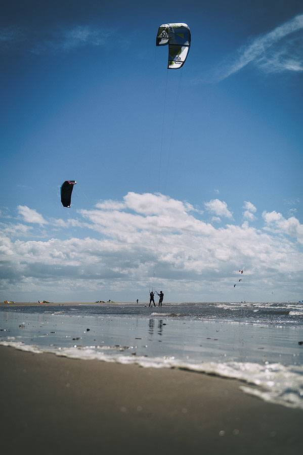 Kite set up on the beach